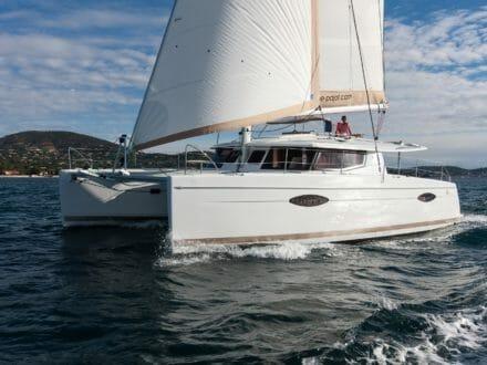 Helia 44 Under Sail - Port Side