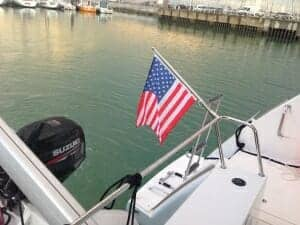 US Flag on Stern