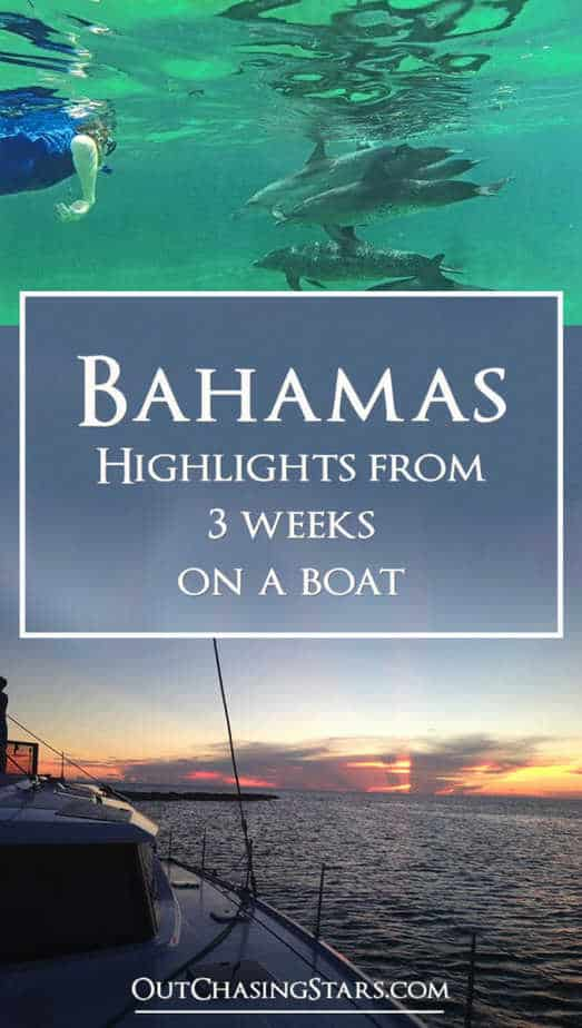 Highlights from 3 weeks on a sailboat in the Bahamas. We did lots of snorkeling, including with dolphins and stingrays! OutChasingStars.com