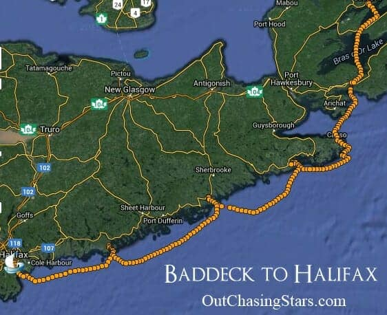 Baddeck to Halifax