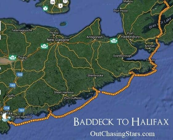 Baddeck to Halifax