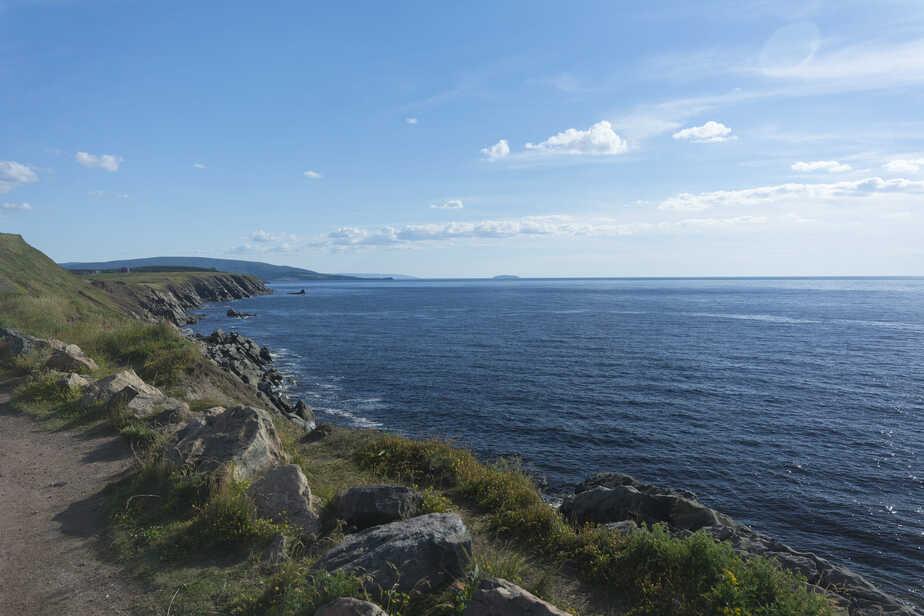 Scenic coastline on Canada's Cabot Trail.