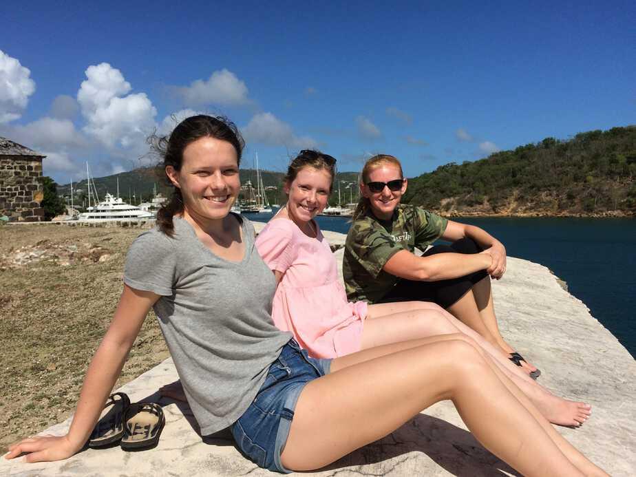 Carolyn, Sarah and me.