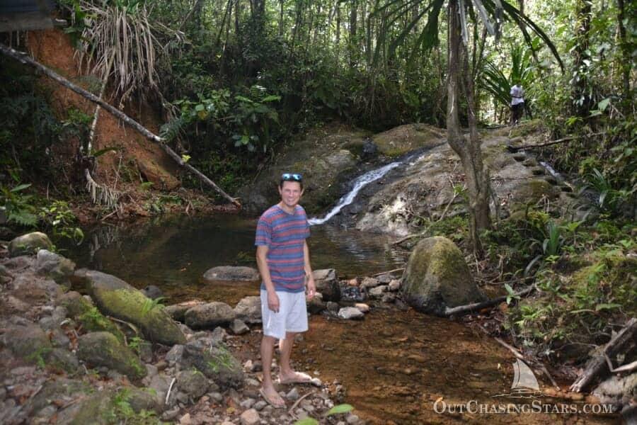 Kyle at Colo-i-Suva park in Fiji.