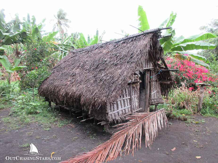 A thatch roof hut on Tanna Island in Vanuatu.