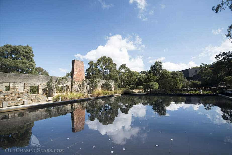 Port Arthur Memorial reflection pool, Port Arthur Tasmania.