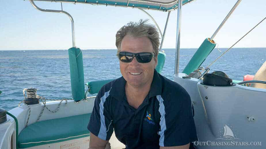 Luke, the owner of Sail Ningaloo.