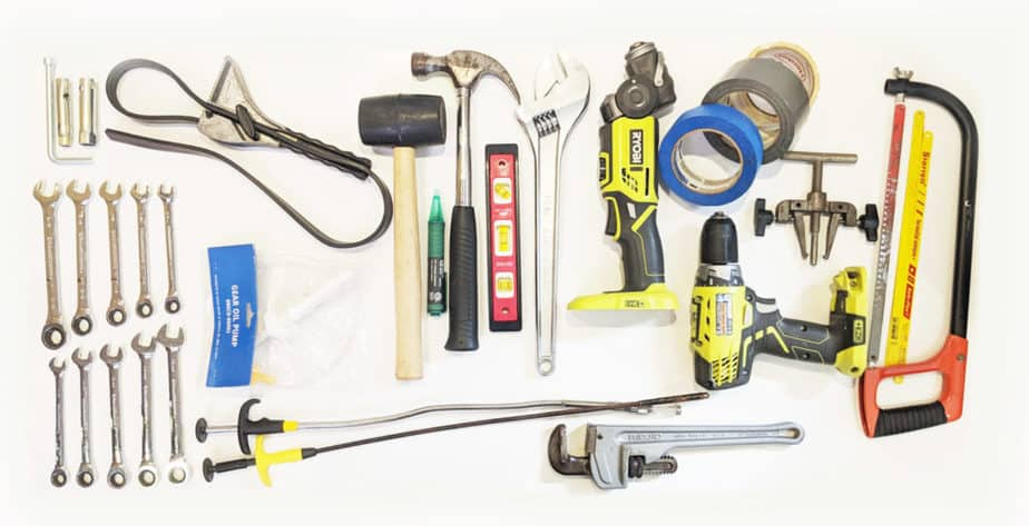 A variety of tools every cruising boat should have.