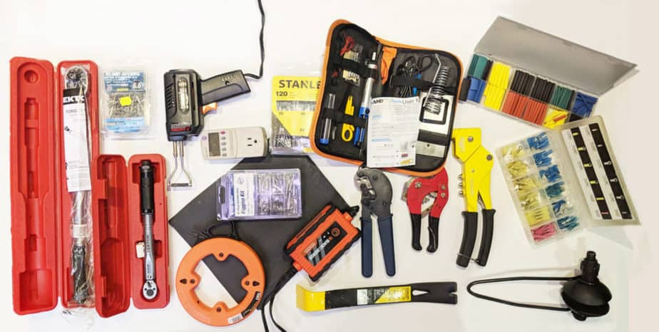 Tools for cruising boats.