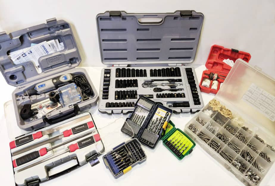 Tool sets for cruising boats.